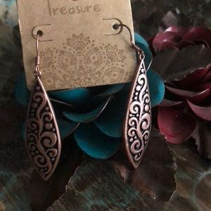 Bronze color earrings